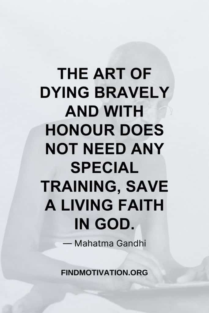 Brave Quotes by Gandhiji