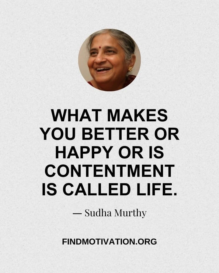 """Thoughts By Sudha Murthy on """"what is the real meaning of life"""""""