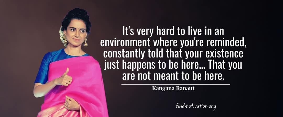 Kangana Ranaut Quotes To Achieve Your Goal