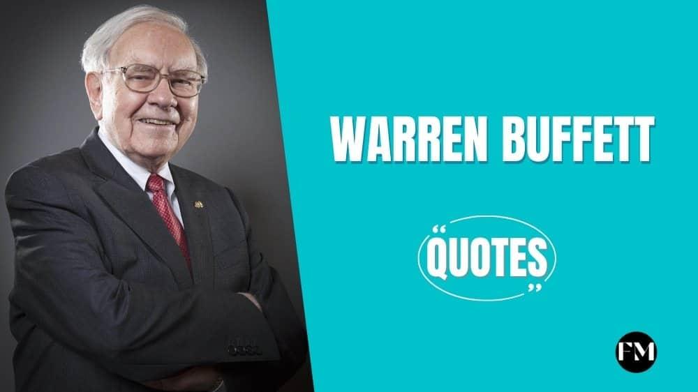 Warren Buffett Inspiring Quotes On Life, Business & Investment