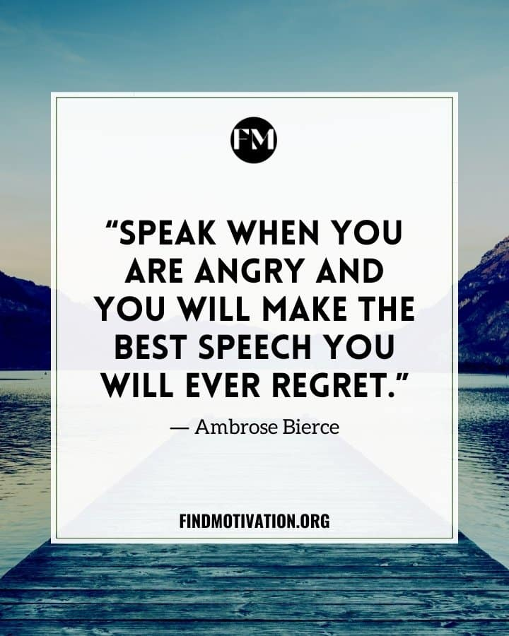 Inspiring Anger Quotes To Help You To Control Your Emotion
