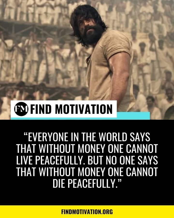 Inspiring Dialogues from the movie KGF