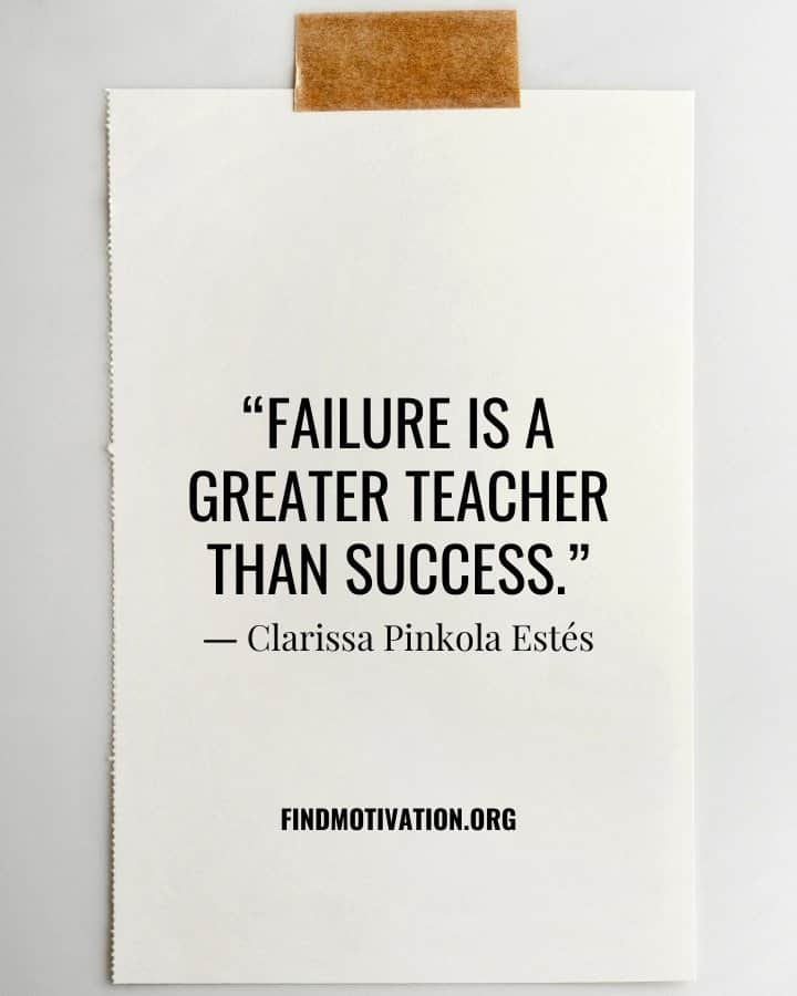 Inspiring Quotes about learning from failure