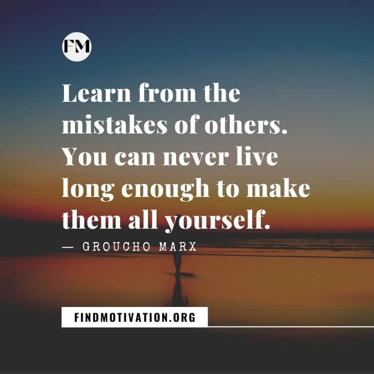 The best inspiring mistake quotes for you that will help you to learn from your mistakes