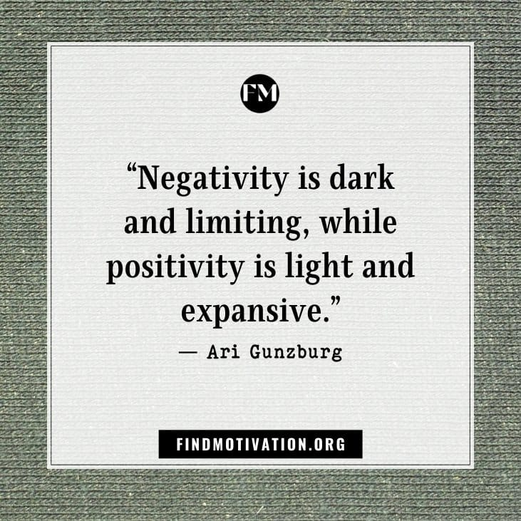 Inspirational negative attitude quotes to remove negativity from your life