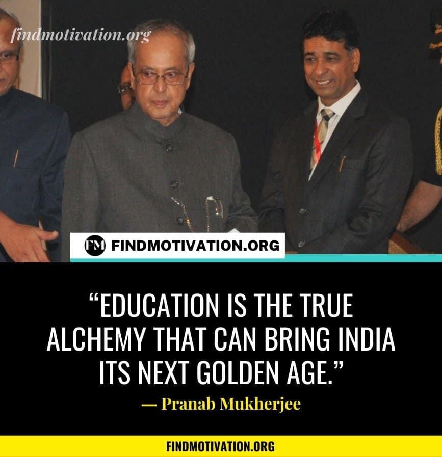 Pranab Mukherjee Inspiring Quotes