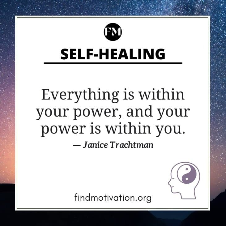 Self Healing Quotes to fill your inner wound
