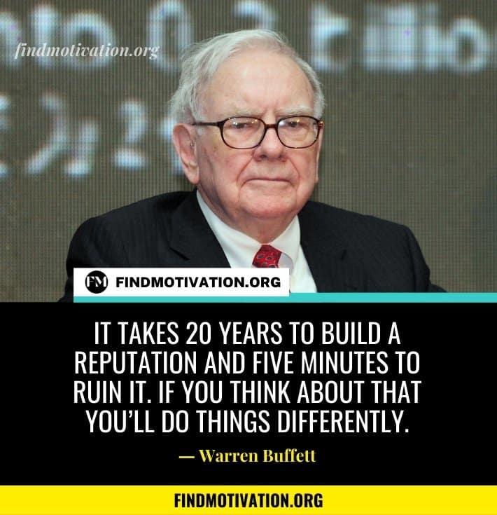 Warren Buffett Inspiring Quotes